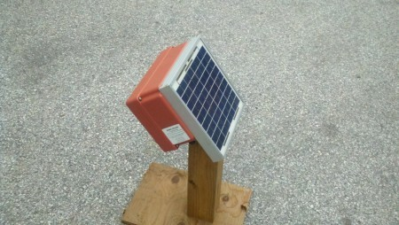 Cyclops Solar Powered Electric fence Charger.