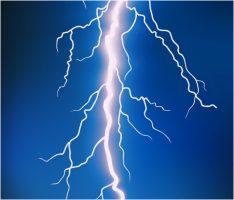 electric fence lightning